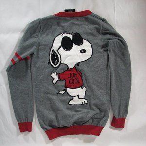 Peanuts Snoopy Joe Cool Varsity Sweater Cardigan S